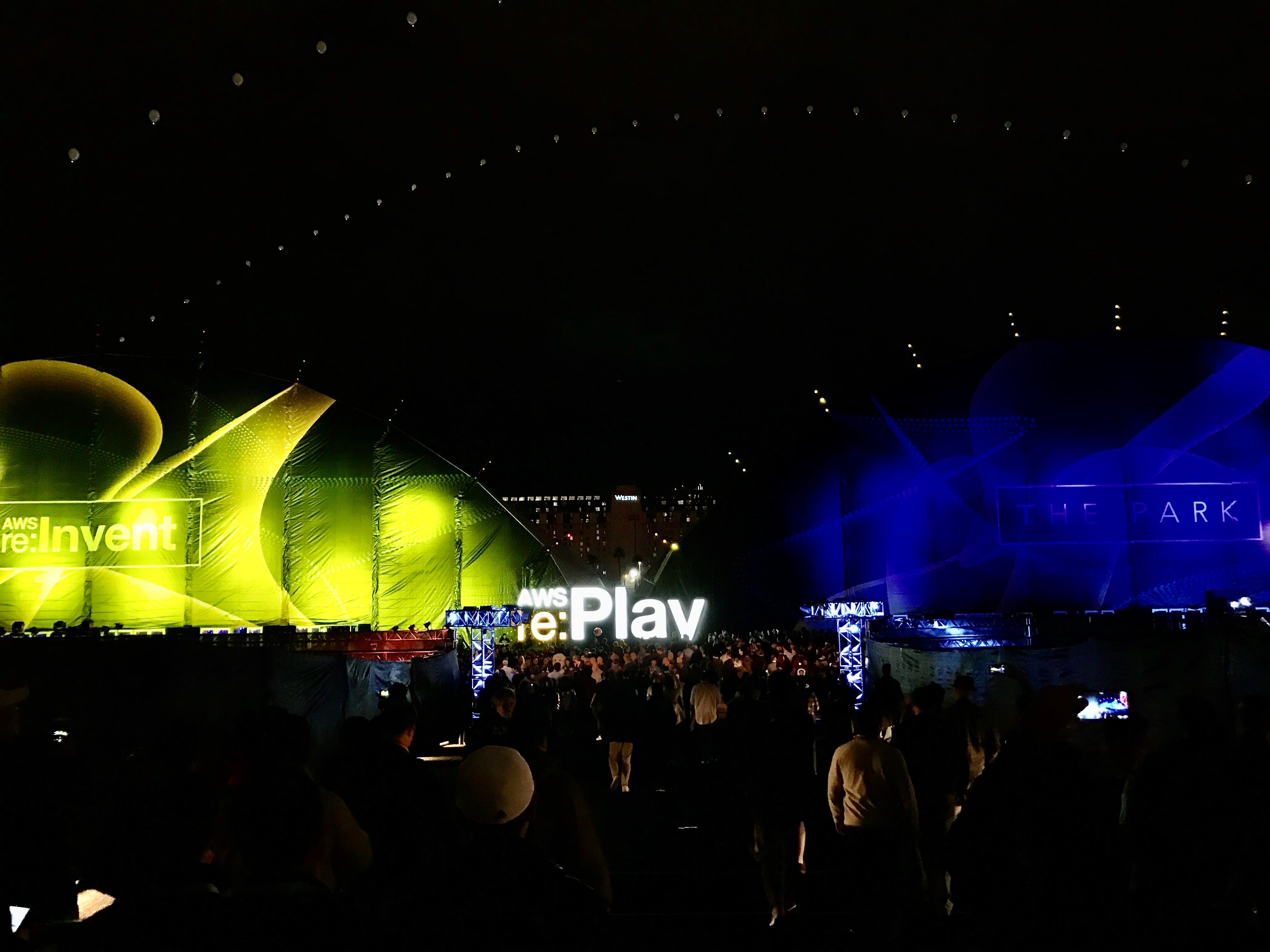 AWS Re:play party