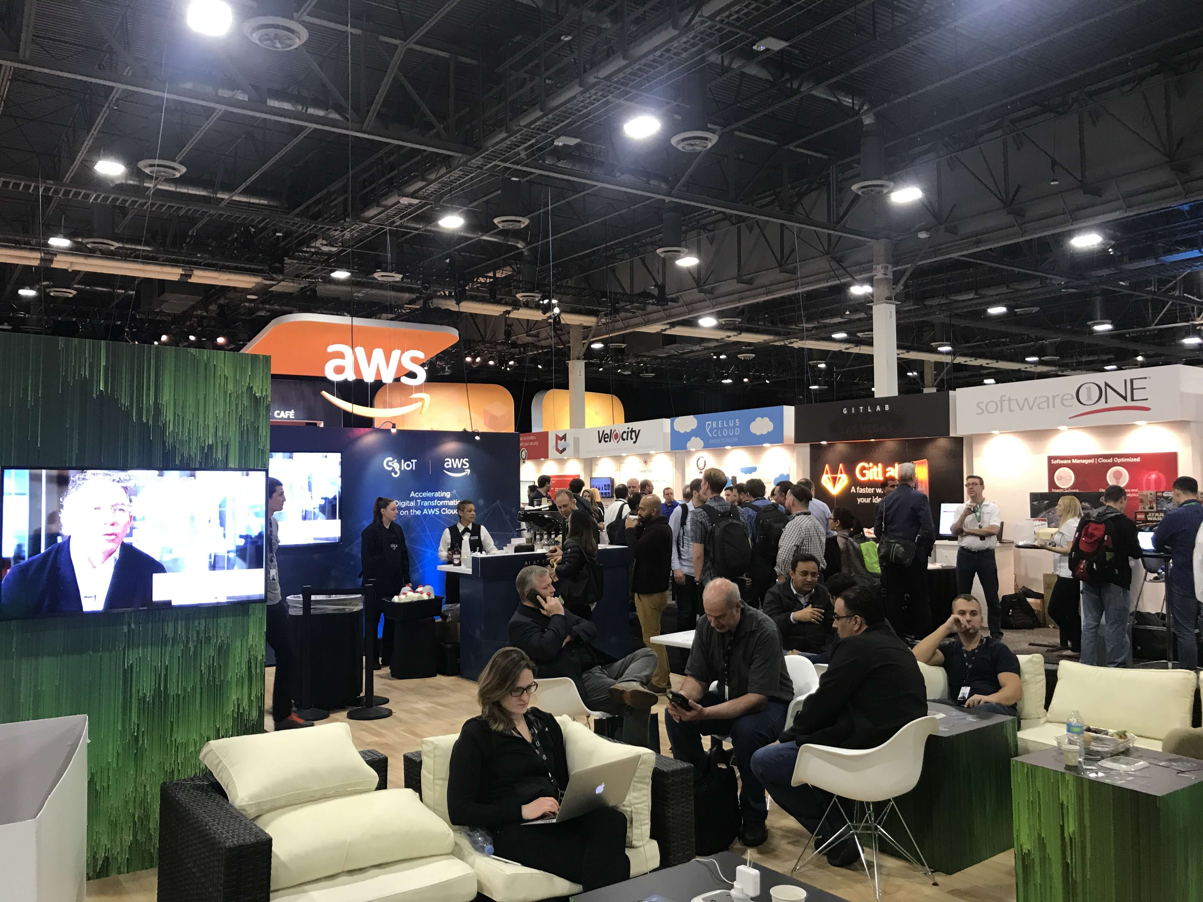 AWS Re:invent The expo 4